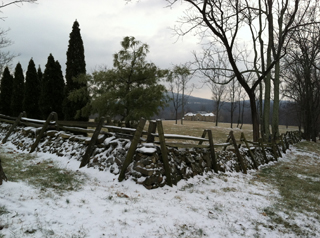 Snowy fence in Middleburg, Virginia