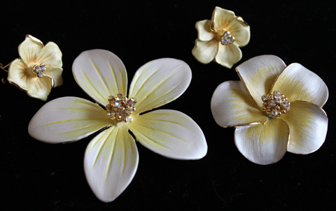 Take a look at our beautiful pin/pendant & earring sets on Ebay!