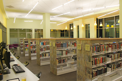 The new Gum Spring Library offers an entire section that's devoted exclusively to teens.