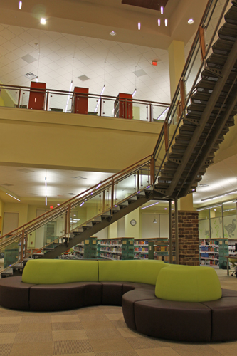 The new library features a beautiful open floor plan.